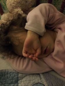 Flowergirl 2.5yo sleeping