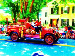 old firetruck independence day Sunboy art photo